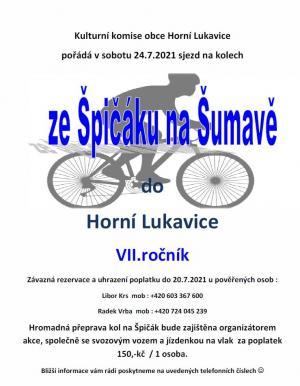 Sjezd ze Špičáku na Šumavě do Horní Lukavice