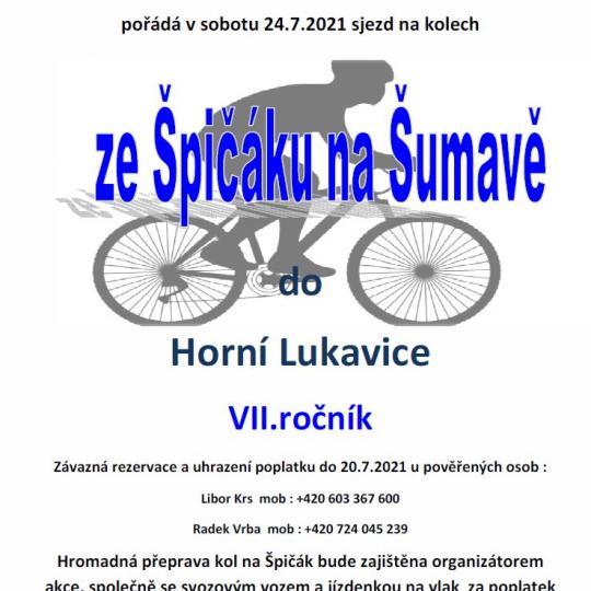 Sjezd ze Špičáku na Šumavě do Horní Lukavice 1