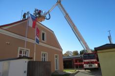 Instalace mluvící (elektronické) sirény na budovu OÚ v Dolní Lukavici