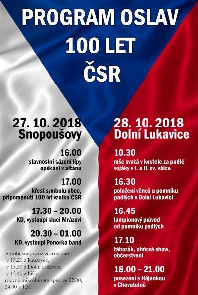 Oslavy 100let ČSR Dolní Lukavice