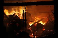 Plameny zničily stodolu ve Snopoušovech 19.02.2012