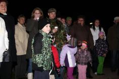 Vítání adventu - Rozsvícení stromu 26. 11. 2011