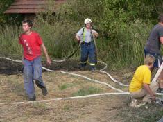 Požár stohu DL 3.8.2008