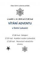 Vítání adventu v Dolní Lukavici