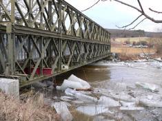 Most uSnopoušov aledové kry