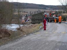 Příprava mostu kdemontáži